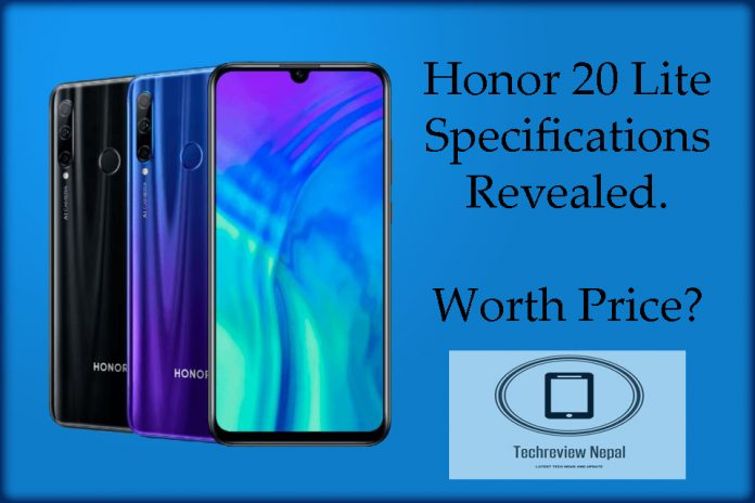 Honor 20 Lite Specs